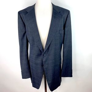 Givenchy Wool Tweed 2 Button Sport Coat 48L Plaid